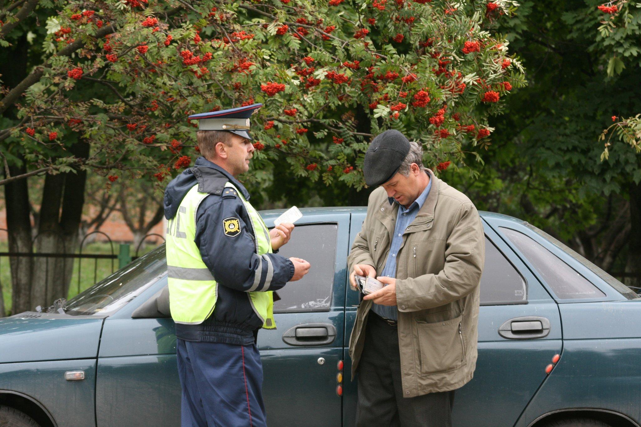Запись в базе о приостановлении действия водительских прав